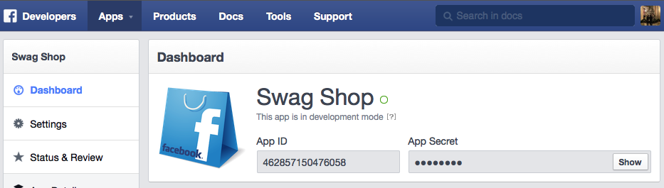 Facebook App Id - Final Step