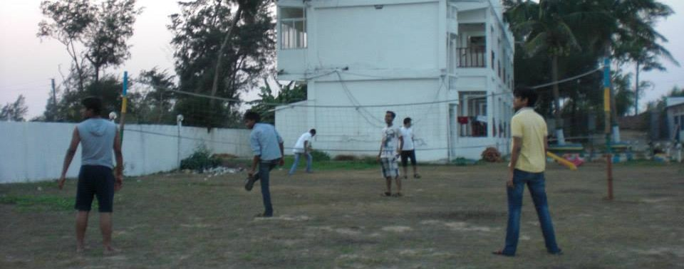 Volleyball match at Mandarmani
