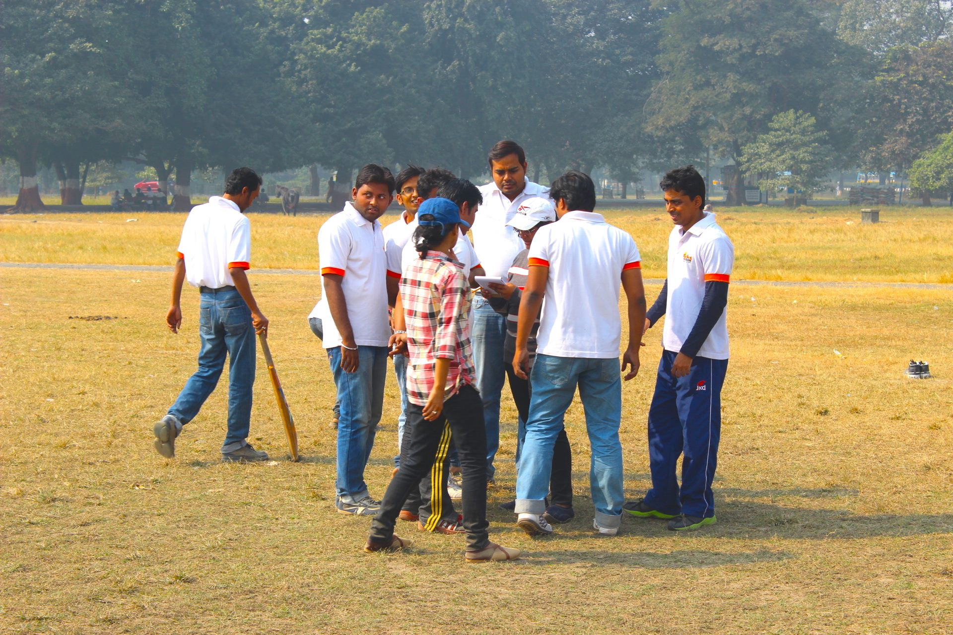 Team Huddle after the 1st innings