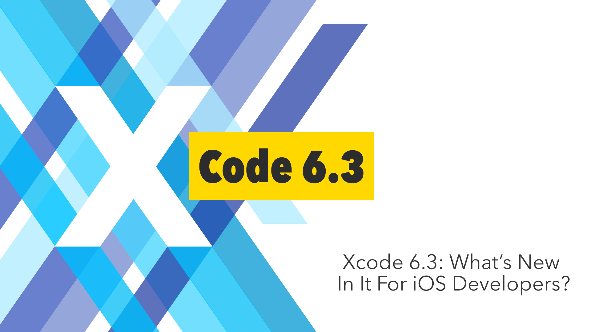 Xcode 6.3 features
