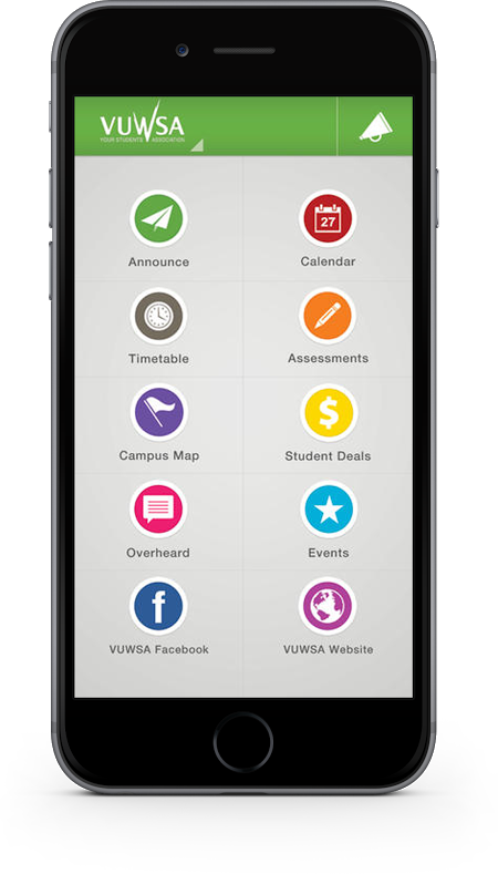 myVUWSA is a university app for students