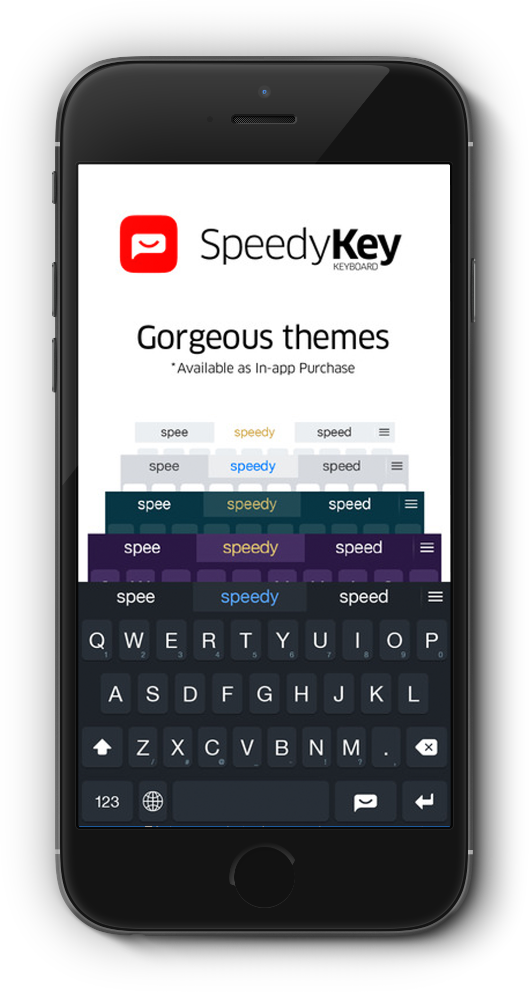 SpeedyKey offers four extra themes via in-app purchase