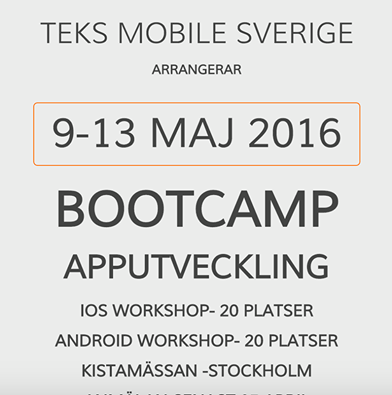 iOS and Android training workshops in Sweden