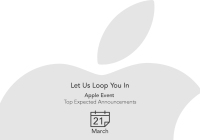 Apple expected announcements list