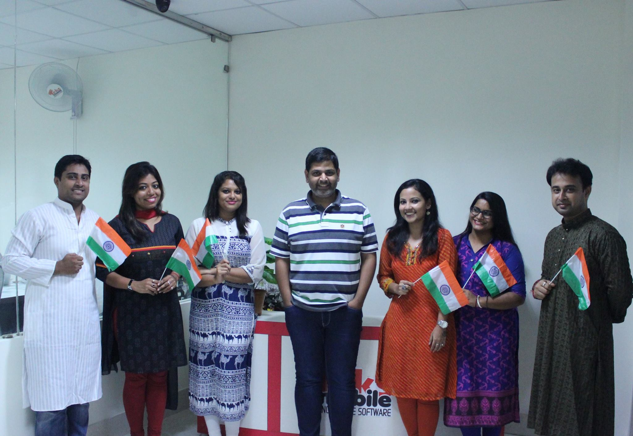 Team Teks celebrates Independence Day