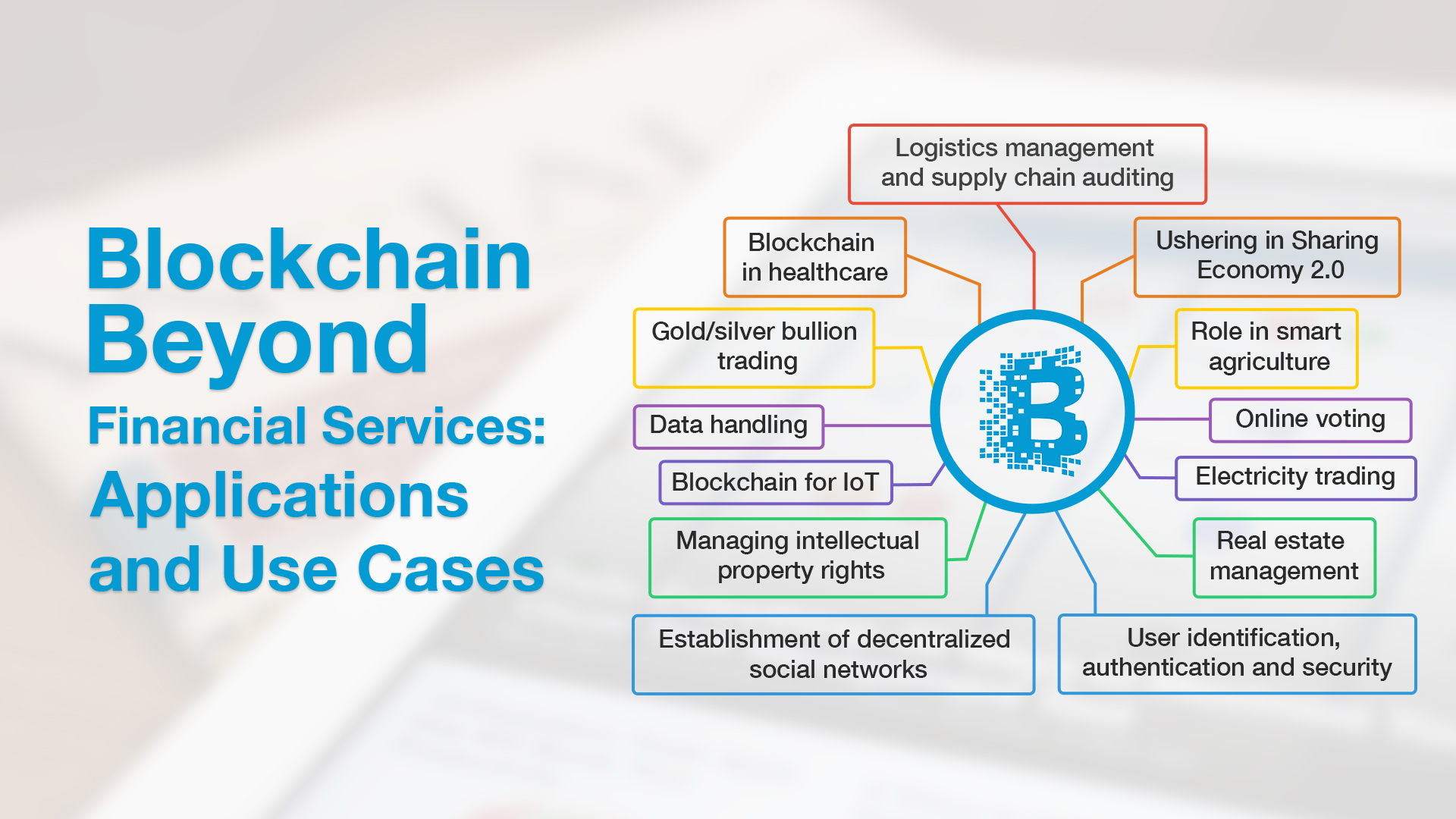 Uses of blockchains in different industries